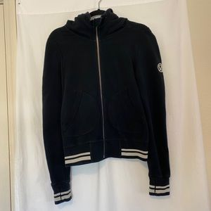 Lululemon black with white zip up hoodie size 6